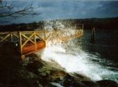 Dock Handles Storm