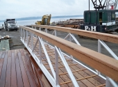 Aluminum Gangway with a Custon Wooden Handrail